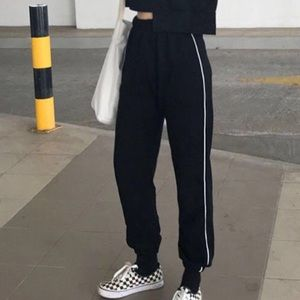 striped sweat pants from yesstyle